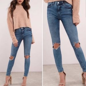 Free People High Rise Bustrd Skinny Jeans NWT